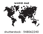 freehand drawing style of world ...   Shutterstock .eps vector #548062240