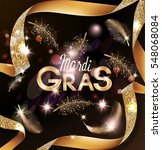 mardi gras background with... | Shutterstock .eps vector #548068084