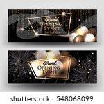 grand opening invitation cards... | Shutterstock .eps vector #548068099