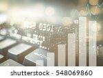 double exposure of city  credit ... | Shutterstock . vector #548069860