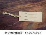 price tag  with rustic wooden... | Shutterstock . vector #548071984