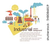 industrial environmental... | Shutterstock .eps vector #548086819
