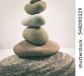 balancing stones isolated on... | Shutterstock . vector #548090329