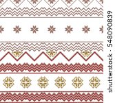 scheme for embroidery nordic... | Shutterstock . vector #548090839