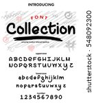collection typeface  labels and ... | Shutterstock .eps vector #548092300