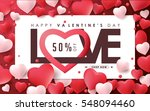 valentines day sale background... | Shutterstock .eps vector #548094460