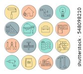 house repair vector line icons  ... | Shutterstock .eps vector #548098210