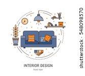 interior design round concept... | Shutterstock .eps vector #548098570