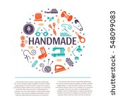 vector hand made icons set  ... | Shutterstock .eps vector #548099083