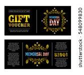 gift voucher memorial day with... | Shutterstock .eps vector #548099830
