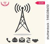 antenna icon | Shutterstock .eps vector #548108650