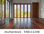 folding doors with tall windows ... | Shutterstock . vector #548111248