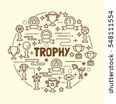 trophy minimal thin line icons... | Shutterstock .eps vector #548111554