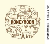 honeymoon minimal thin line... | Shutterstock .eps vector #548111704