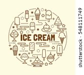 ice cream minimal thin line... | Shutterstock .eps vector #548111749