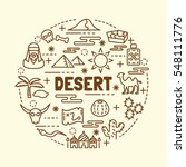 desert minimal thin line icons... | Shutterstock .eps vector #548111776