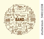band minimal thin line icons... | Shutterstock .eps vector #548112238