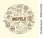 bicycle minimal thin line icons ... | Shutterstock .eps vector #548112250