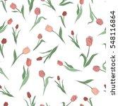 spring seamless pattern with... | Shutterstock .eps vector #548116864