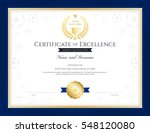 sport theme certification of... | Shutterstock .eps vector #548120080