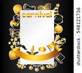 carnival invitation card with... | Shutterstock .eps vector #548121736