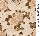 seamless vintage background... | Shutterstock .eps vector #548124694