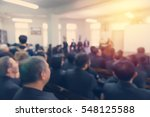 blur of business conference and ... | Shutterstock . vector #548125588