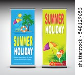 roll up summer banner | Shutterstock .eps vector #548129653