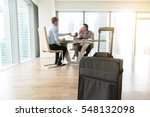 close up of suitcase in real...   Shutterstock . vector #548132098