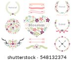 modern floral frame vector and... | Shutterstock .eps vector #548132374