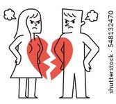 vector illustration   break up... | Shutterstock .eps vector #548132470
