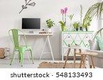 shot of a bright living room...   Shutterstock . vector #548133493