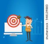 businessman manager work... | Shutterstock .eps vector #548139883