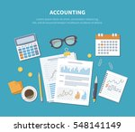accounting concept. financial... | Shutterstock .eps vector #548141149