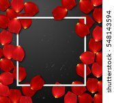 valentine s  border card design ... | Shutterstock .eps vector #548143594