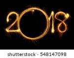 happy new year 2018 text...   Shutterstock . vector #548147098