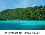 tropical island paradise of koh ... | Shutterstock . vector #548148184