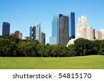 this is a view of central park... | Shutterstock . vector #54815170