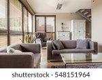 cozy living room with big... | Shutterstock . vector #548151964