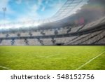 rugby stadium from the field... | Shutterstock . vector #548152756