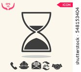 hourglass time icon | Shutterstock .eps vector #548153404