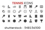 simple modern set of tennis... | Shutterstock .eps vector #548156500