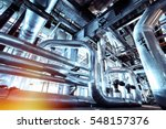equipment  cables and piping as ... | Shutterstock . vector #548157376