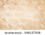 close up woven bamboo pattern | Shutterstock . vector #548157508