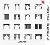 vector set icons of window... | Shutterstock .eps vector #548158534