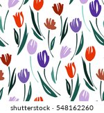 floral seamless background... | Shutterstock .eps vector #548162260