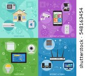 smart house and internet of... | Shutterstock .eps vector #548163454