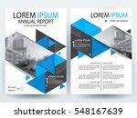 abstract vector modern flyers... | Shutterstock .eps vector #548167639