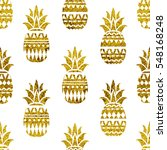 pineapple seamless pattern... | Shutterstock .eps vector #548168248
