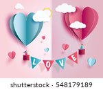 Stock vector love invitation card valentine s day abstract background with text love and young joyful clouds 548179189